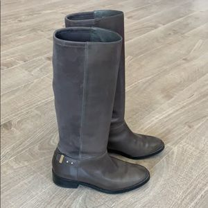 Cole Haan Womens Gray Leather Boot Size 7.5